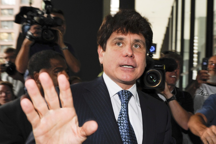 Former and Impeached Illinois Governor Rod Blagojevich Arrives at the Federal Court After Being Summoned to Appear by Judge James Zagel in Chicago Illinois Usa 17 August 2010 Blagojevich was Charged with Conspiring to Sell the Us Senate Seat Formerly Held by President Barack Obama and Other Charges United States ChicagoUsa Blagojevich Trial - Aug 2010