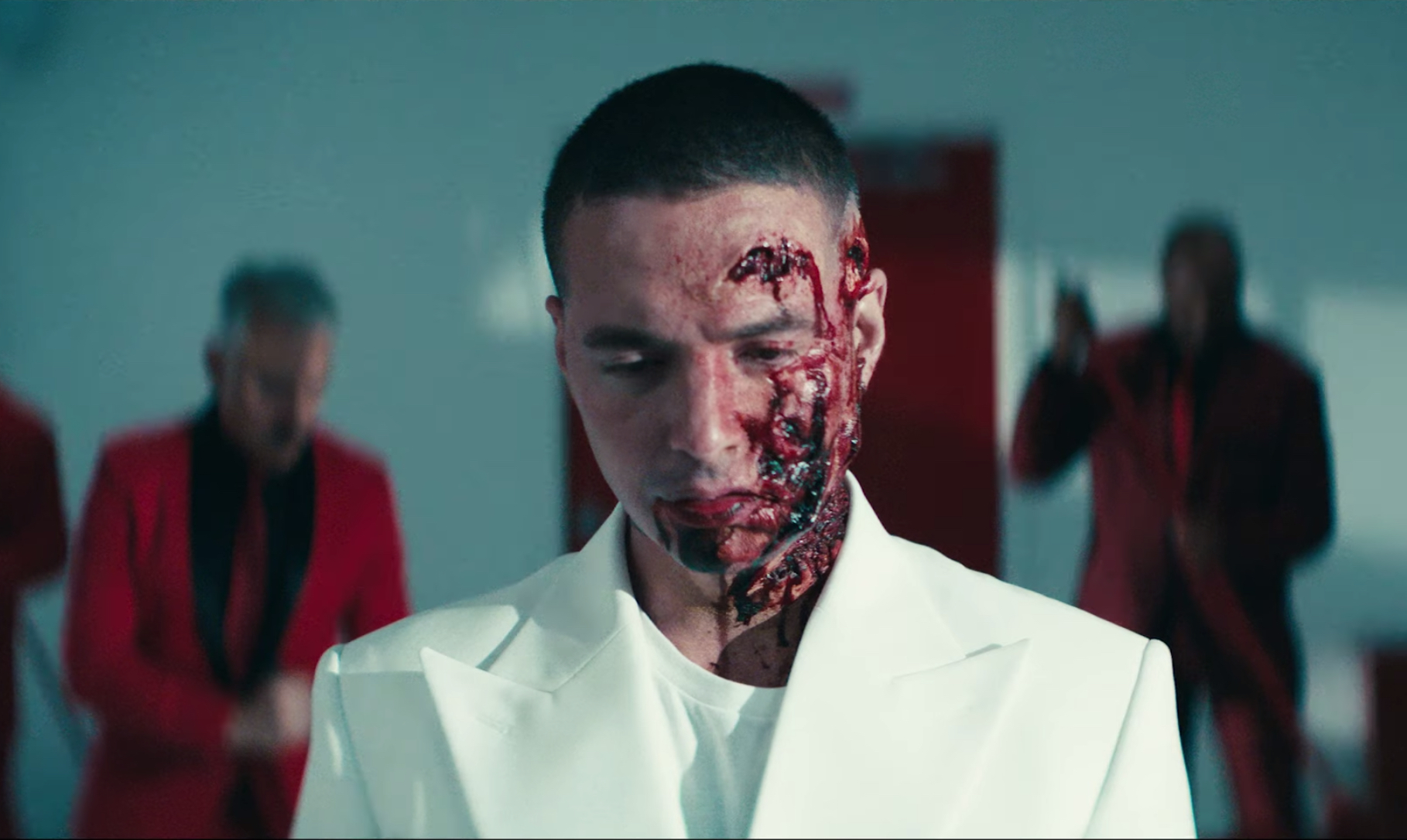 J Balvin Gets Bloody in Haunting New 'Rojo' Video