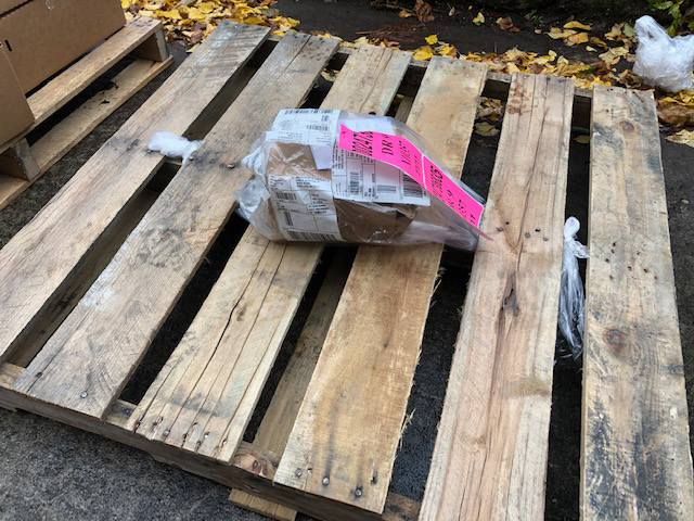 A pallet was delivered to Music Millenium with one box and one CD in it.