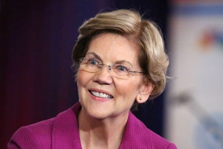 Democratic presidential candidate, Sen. Elizabeth Warren speaks during a Democratic presidential primary debate, in Las Vegas on February 19th, 2020.