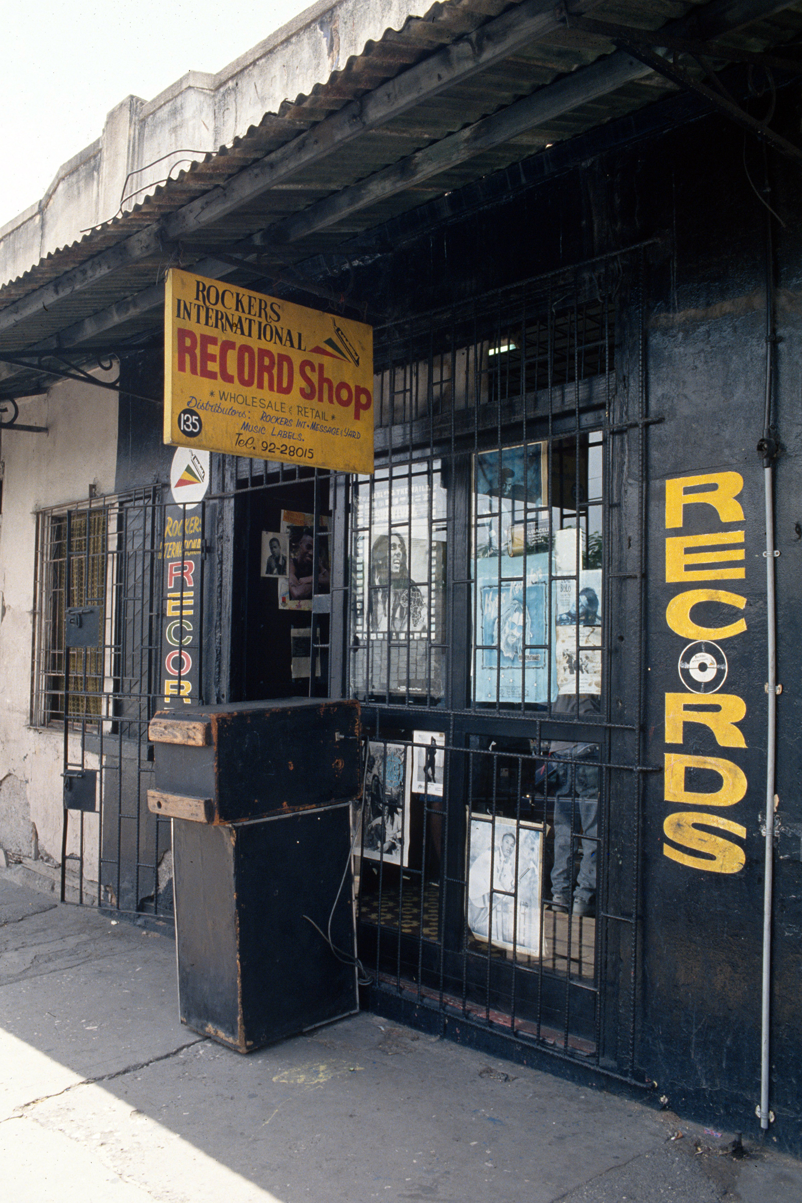 General view of Augustus Pablo's record shop 'Rockers International' on Orange Street, Kingston, Jamaica, 2000. (Photo by David Corio/Redferns)