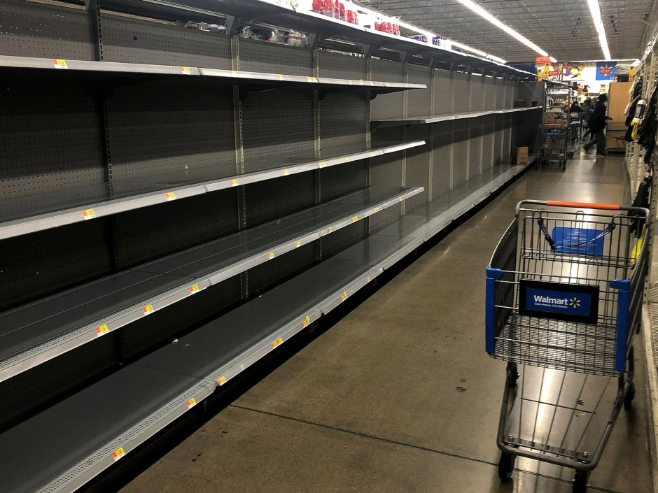 Image result for coronavirus empty shelves  socialism
