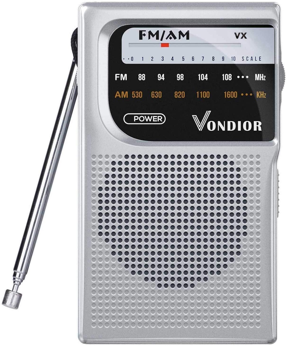 AM FM Battery Operated Portable Pocket Radio