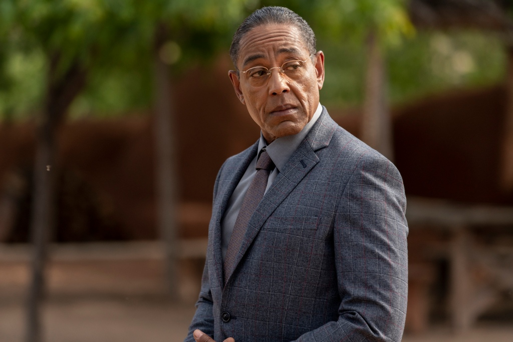 "Giancarlo Esposito as Gustavo ""Gus"" Fring - Better Call Saul _ Season 5, Episode 5 - Photo Credit: Greg Lewis/AMC/Sony Pictures Television"