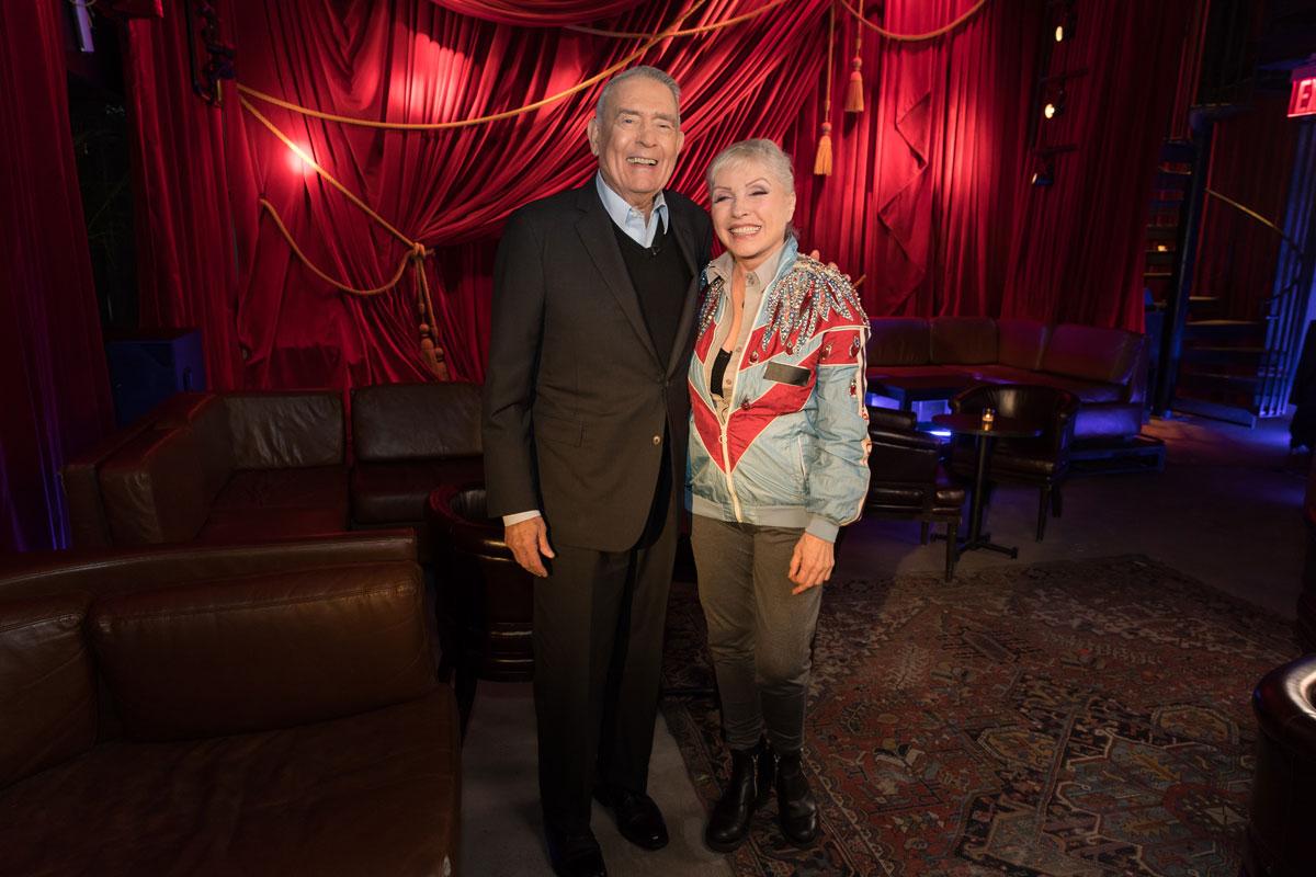 Dan Rather and Debbie Harry.