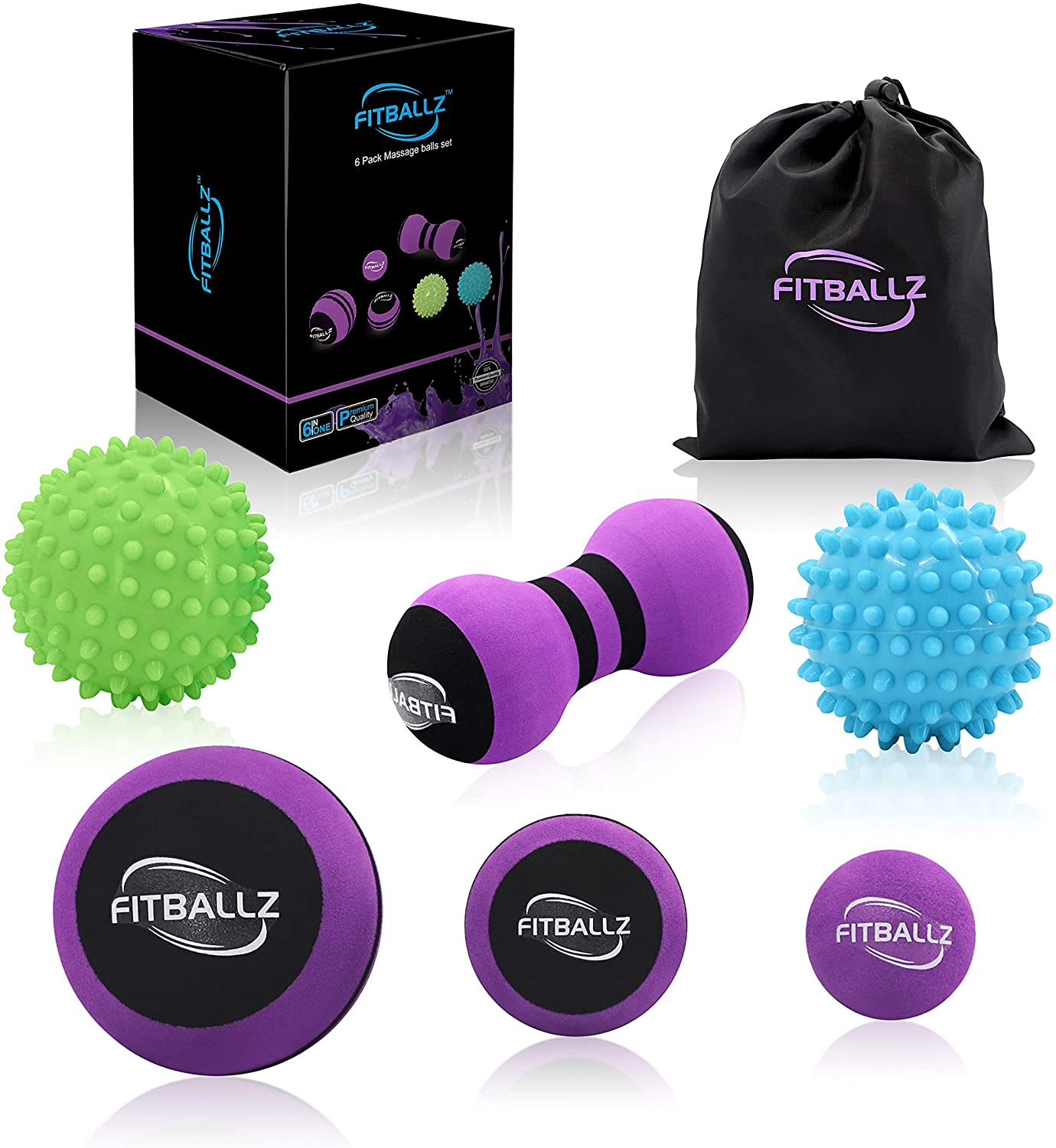 Fitballz Massage Ball Kit for Myofascial Trigger Point Release