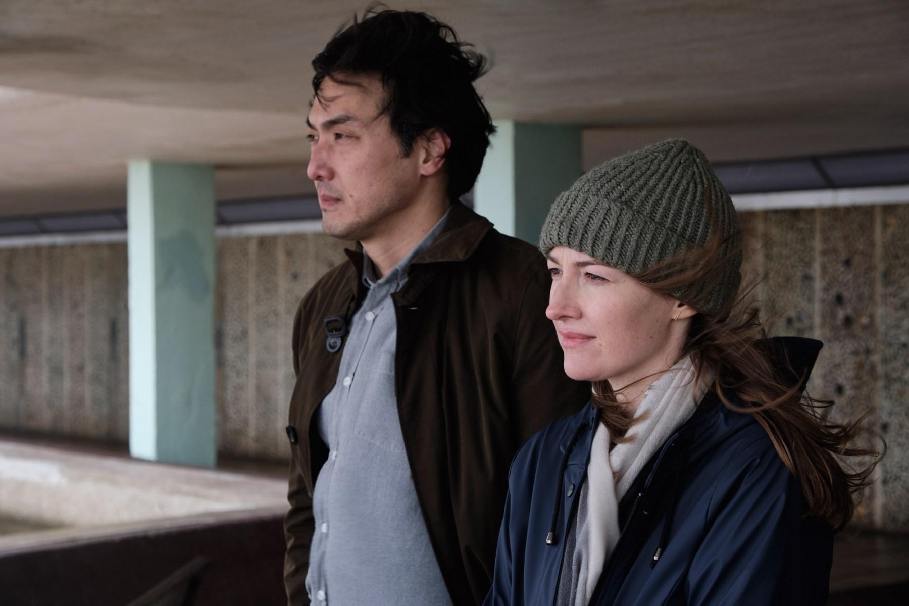 Takehiro Hira and Kelly Macdonald in 'Giri/Haji.'