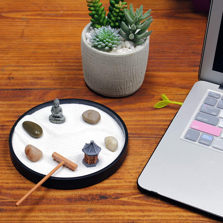 Nature's Mark Mini Meditation Zen Garden Table