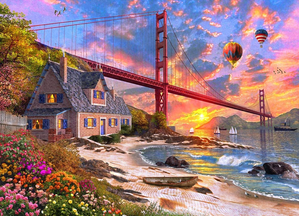 Golden Gate Sunset Puzzle