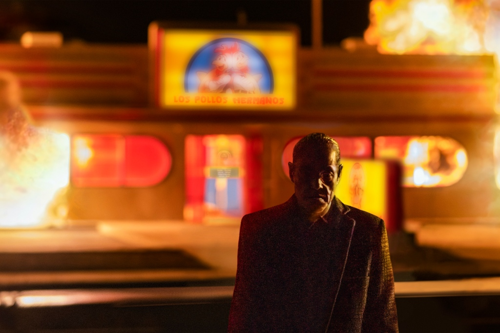 """Giancarlo Esposito as Gustavo """"Gus"""" Fring; single - Better Call Saul _ Season 5, Episode 7 - Photo Credit: Greg Lewis/AMC/Sony Pictures Television"""