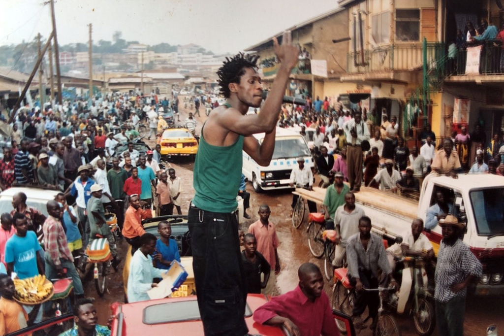 Wine performing in his younger days. Photograph courtesy of Bobi Wine