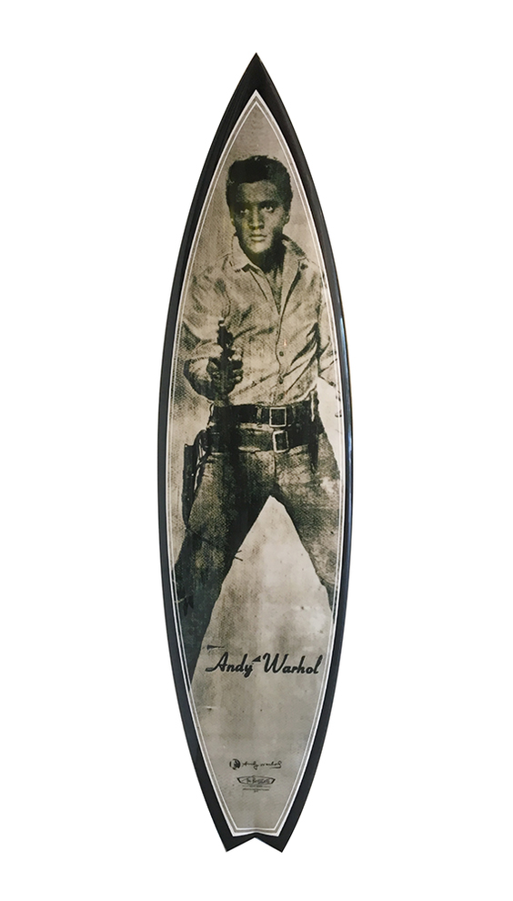 elvis warhol surfboard