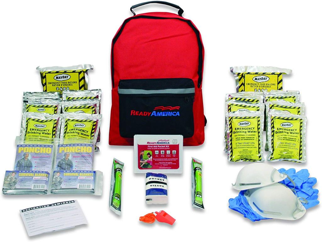 best emergency survival kit red