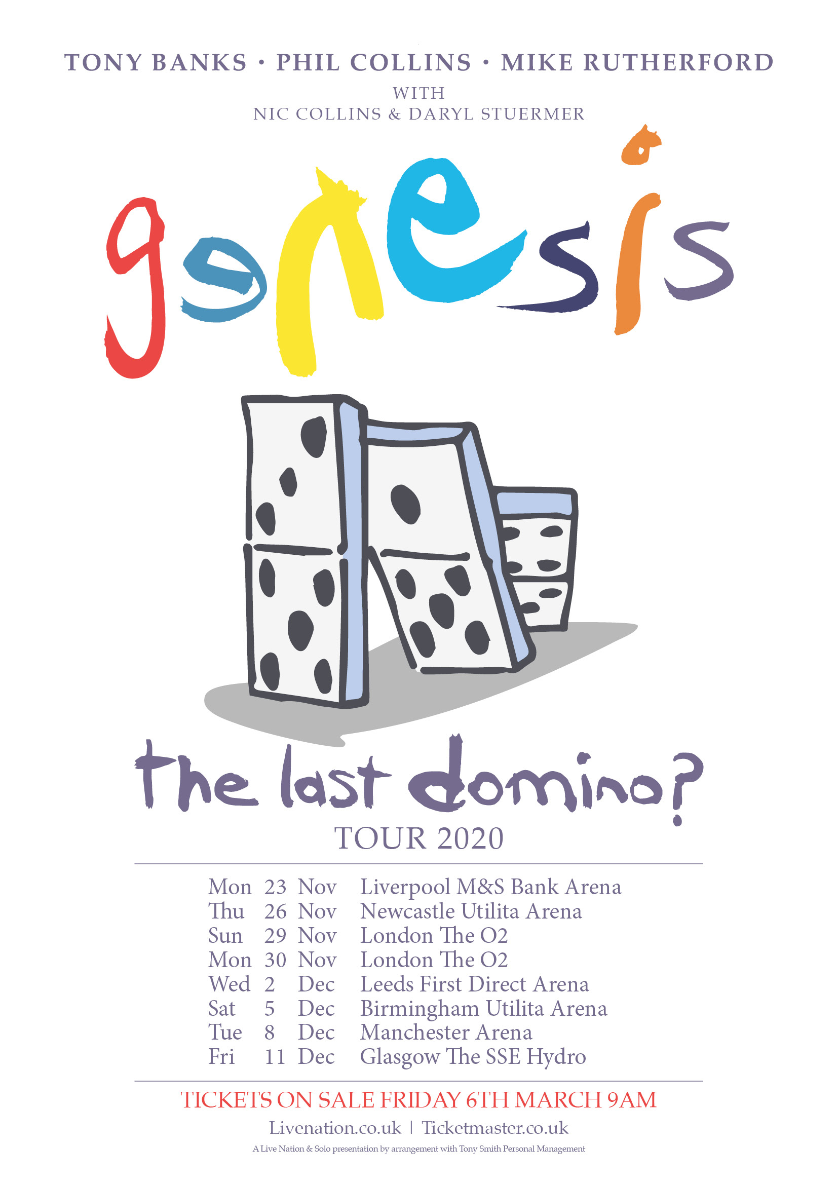 Genesis to Launch 'The Last Domino?' Reunion Tour in November