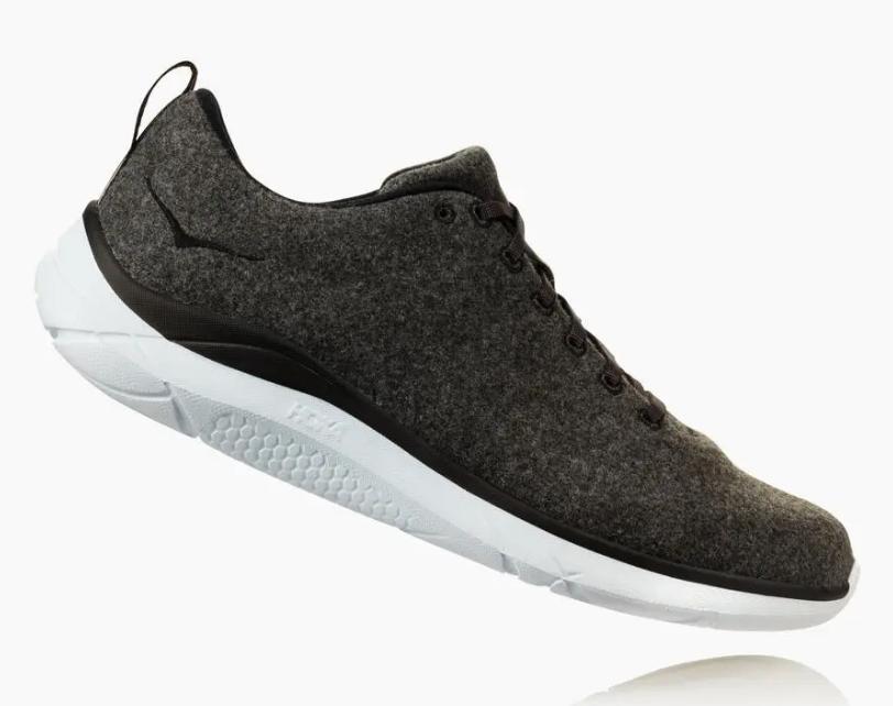 hoka wool sneakers