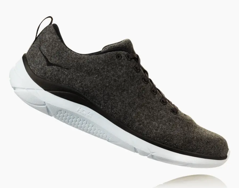hoka wool sneakers