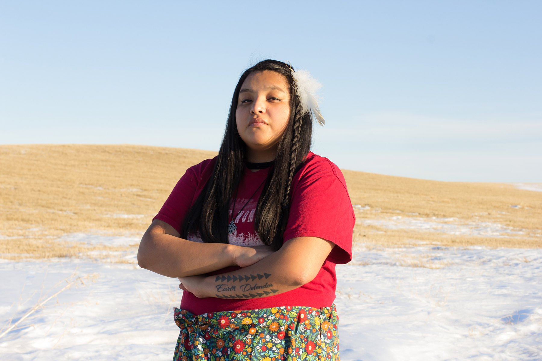 Jasilyn Charger, who led protesters at Standing Rock, says activism gave her friends hope.