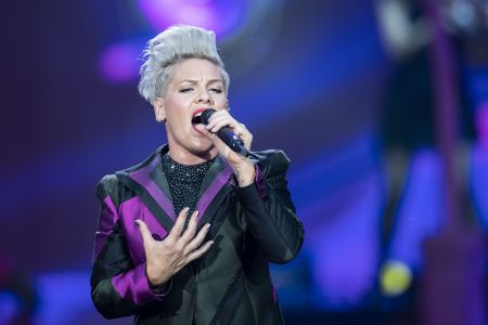 Editorial use onlyMandatory Credit: Photo by ENNIO LEANZA/EPA-EFE/Shutterstock (10350684p)US singer Pink performs during a concert of her 'Beautiful Trauma Tour' at the Letzigrund Stadium in Zurich, Switzerland, 30 July 2019.P!nk in concert, Zurich, Switzerland - 30 Jul 2019