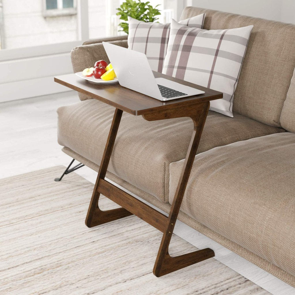 end table couch desk laptop