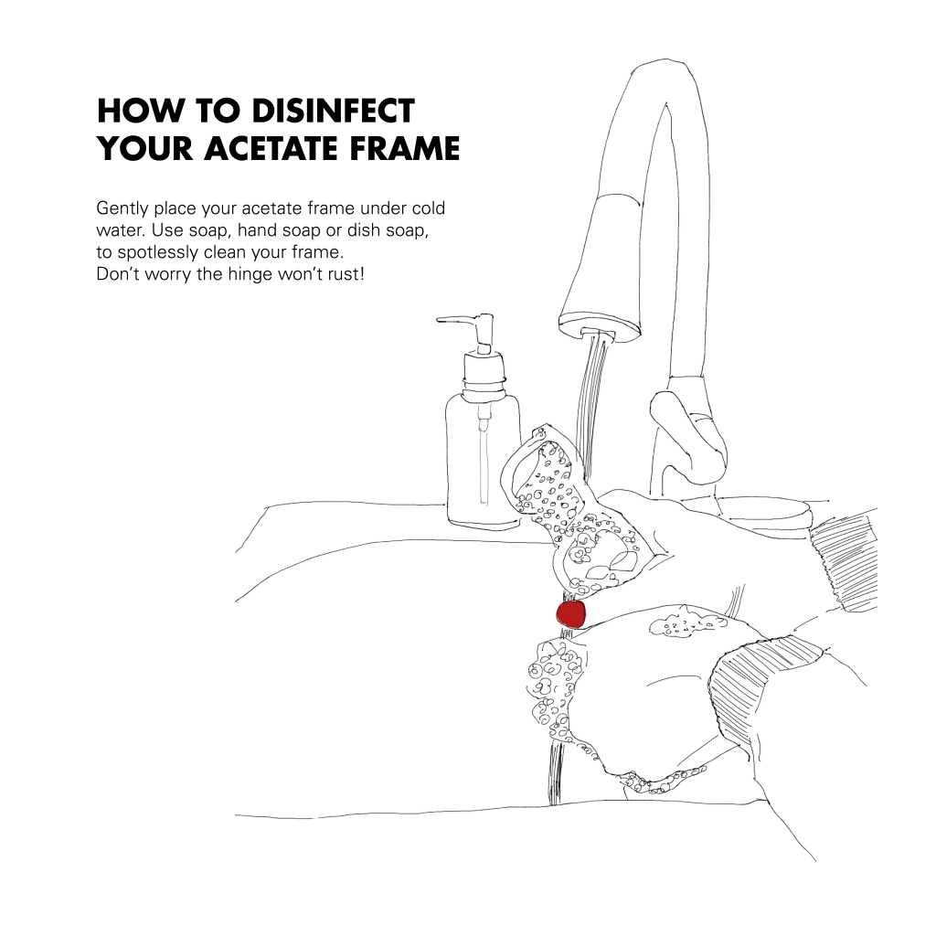 how to disinfect your glasses