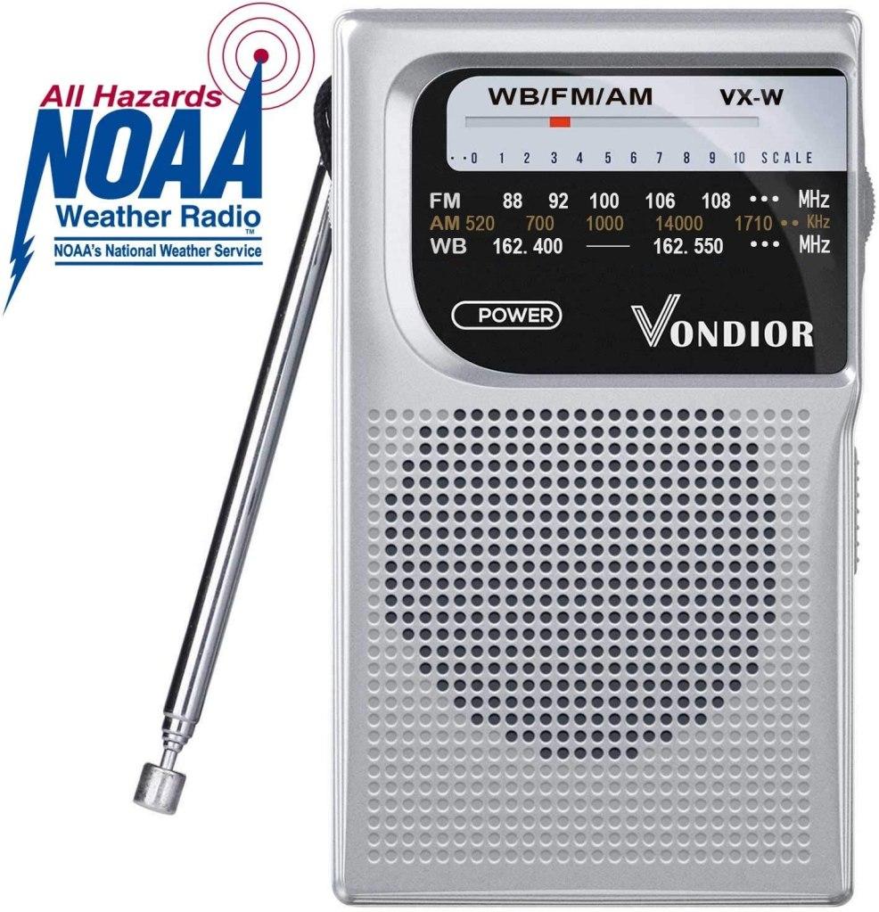 NOAA weather emergency portable radio