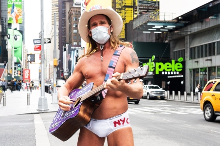 Now presenting Mr. and Mrs. Naked Cowboy - New York