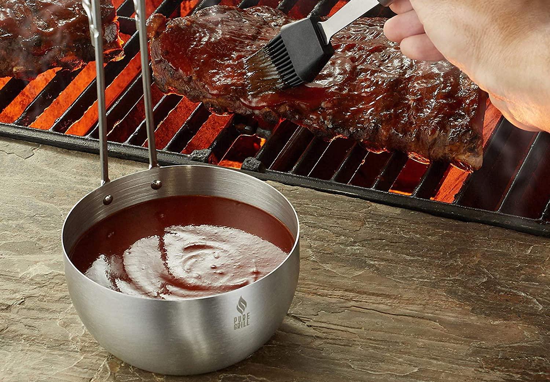 Pure Grill BBQ Sauce Pot
