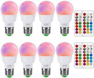 rgb led color light bulb mood light