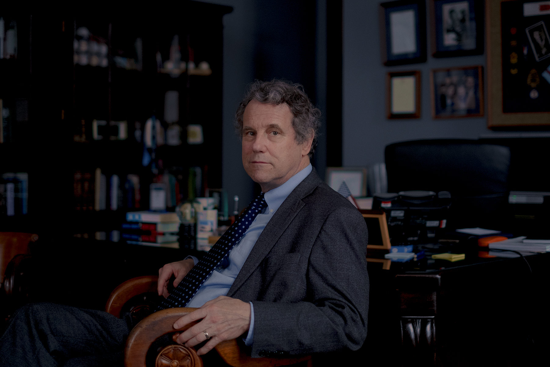 3/12/20, Capitol Hill, Washington, D.C. Sen. Sherrod Brown (D-Ohio) in his office at the Senate Hart Office building on Capitol Hill in Washington, D.C. on March 12, 2020. Gabriella Demczuk / Rolling Stone Magazine
