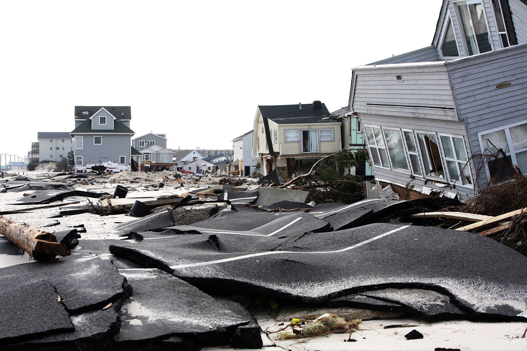 Ortley Beach, New Jersey, in 2012, after Hurricane Sandy