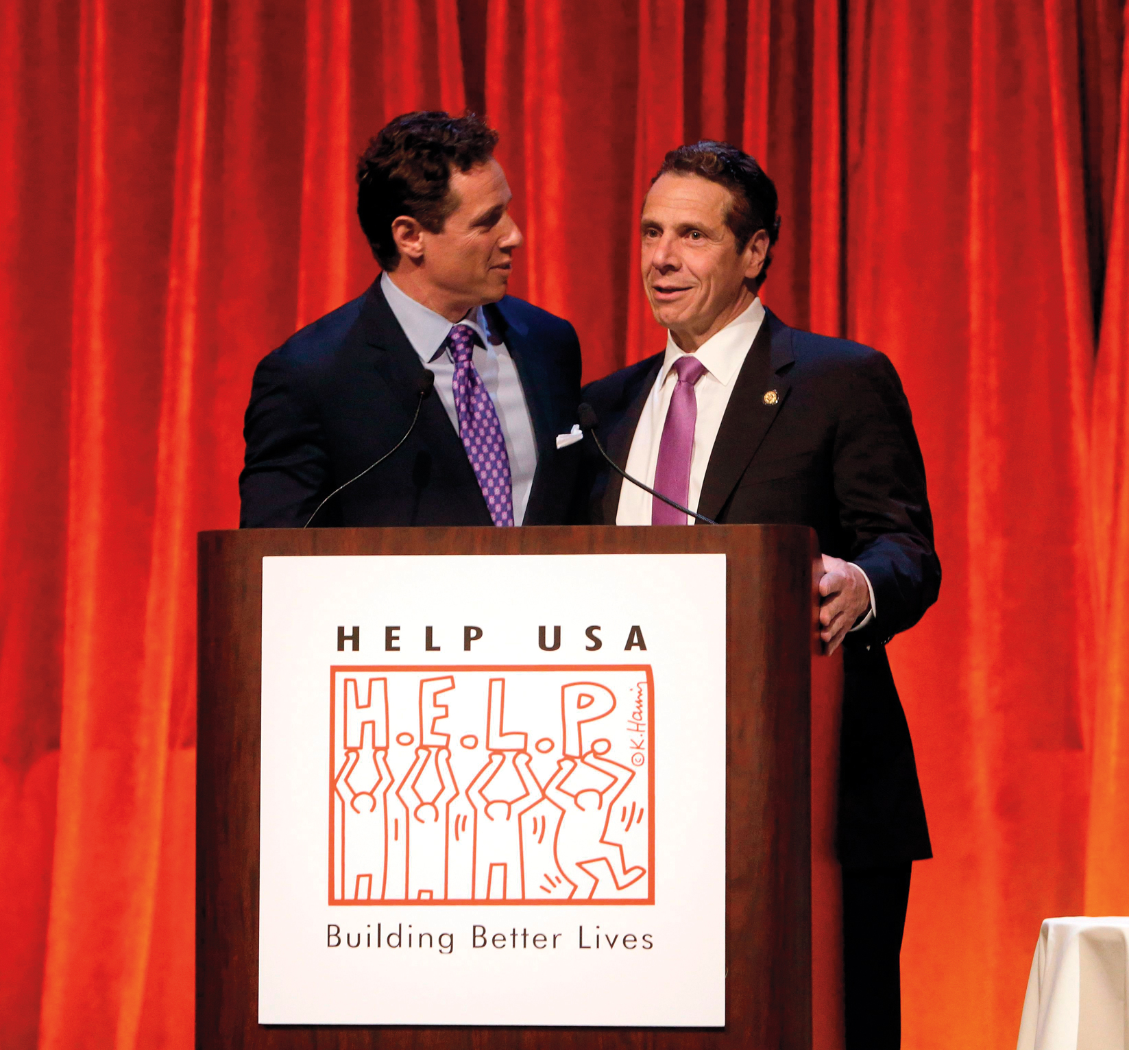 CNN News anchor Chris Cuomo, left, and his brother, New York Governor Andrew Cuomo onstage at the 2015 Help USA Hero Awards Dinner at Cipriani 42nd Street on Thurs., in New York City2015 HELP Hero Awards Dinner, New York, USA - 28 May 2015