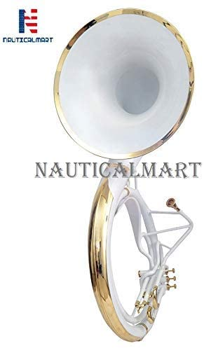 big bell sousaphone white brass