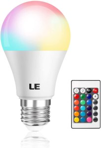 color changing lightbulb remote