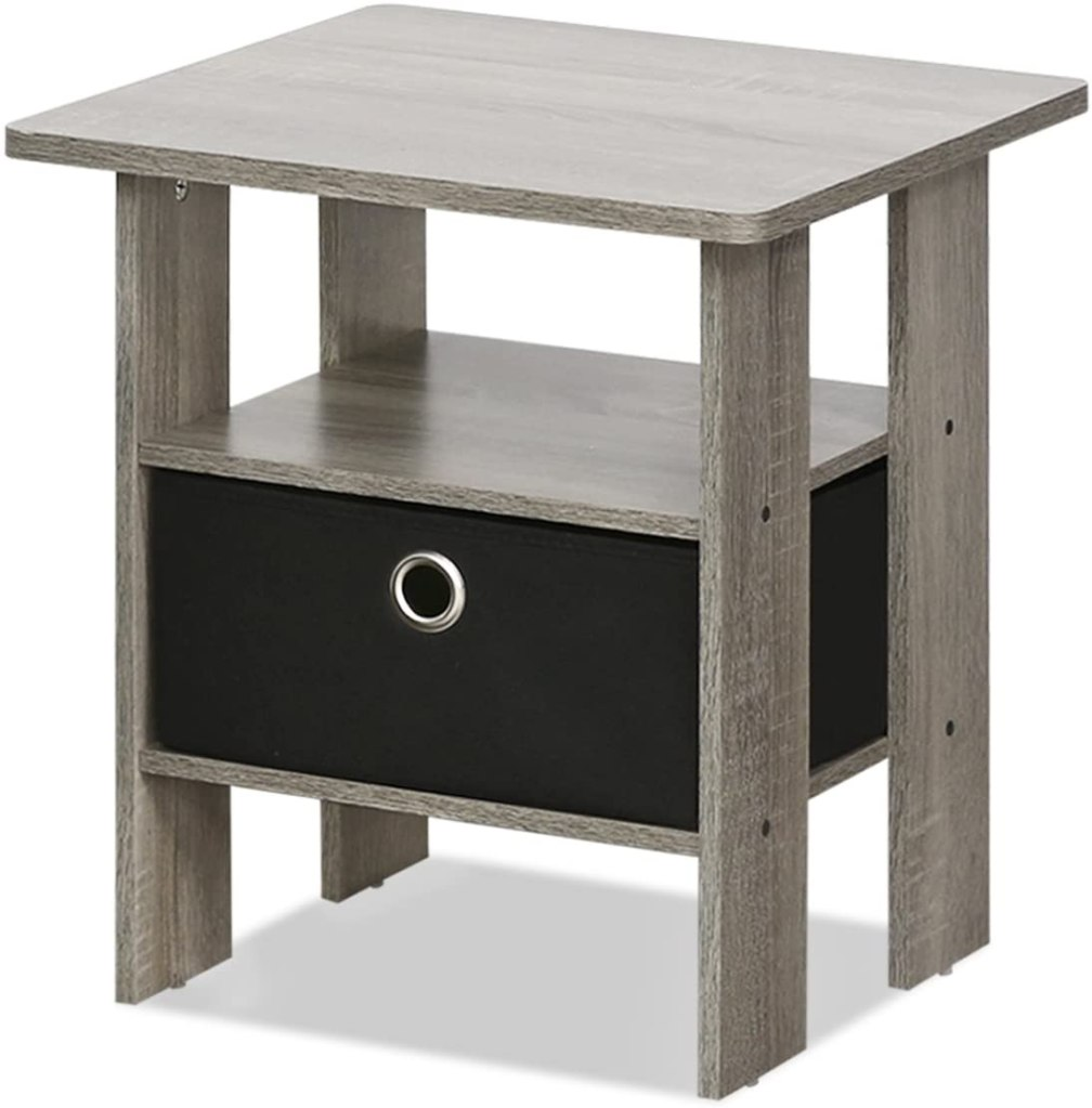 end table, nightstand, bin drawer