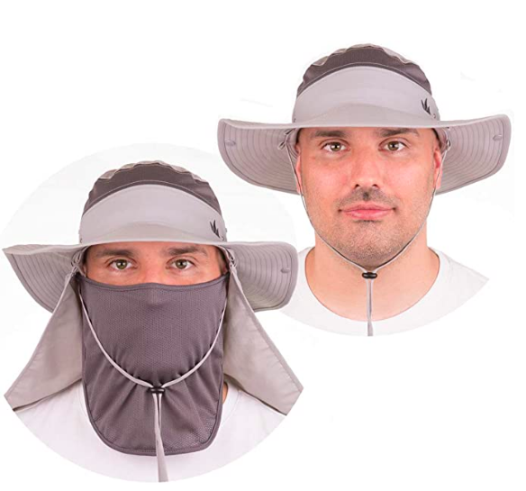 face mask hat