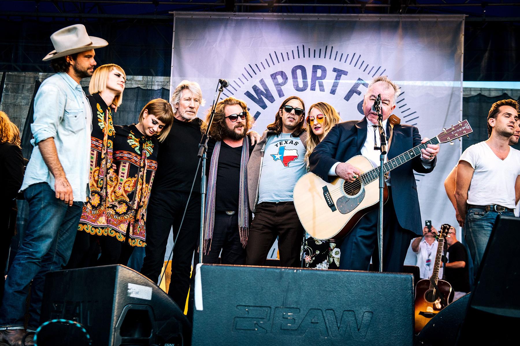 John Prine, Zach Williams, Lucius, Roger Waters, Jim James, Margo PriceNewport Folk Festival, USA - 30 Jul 2017