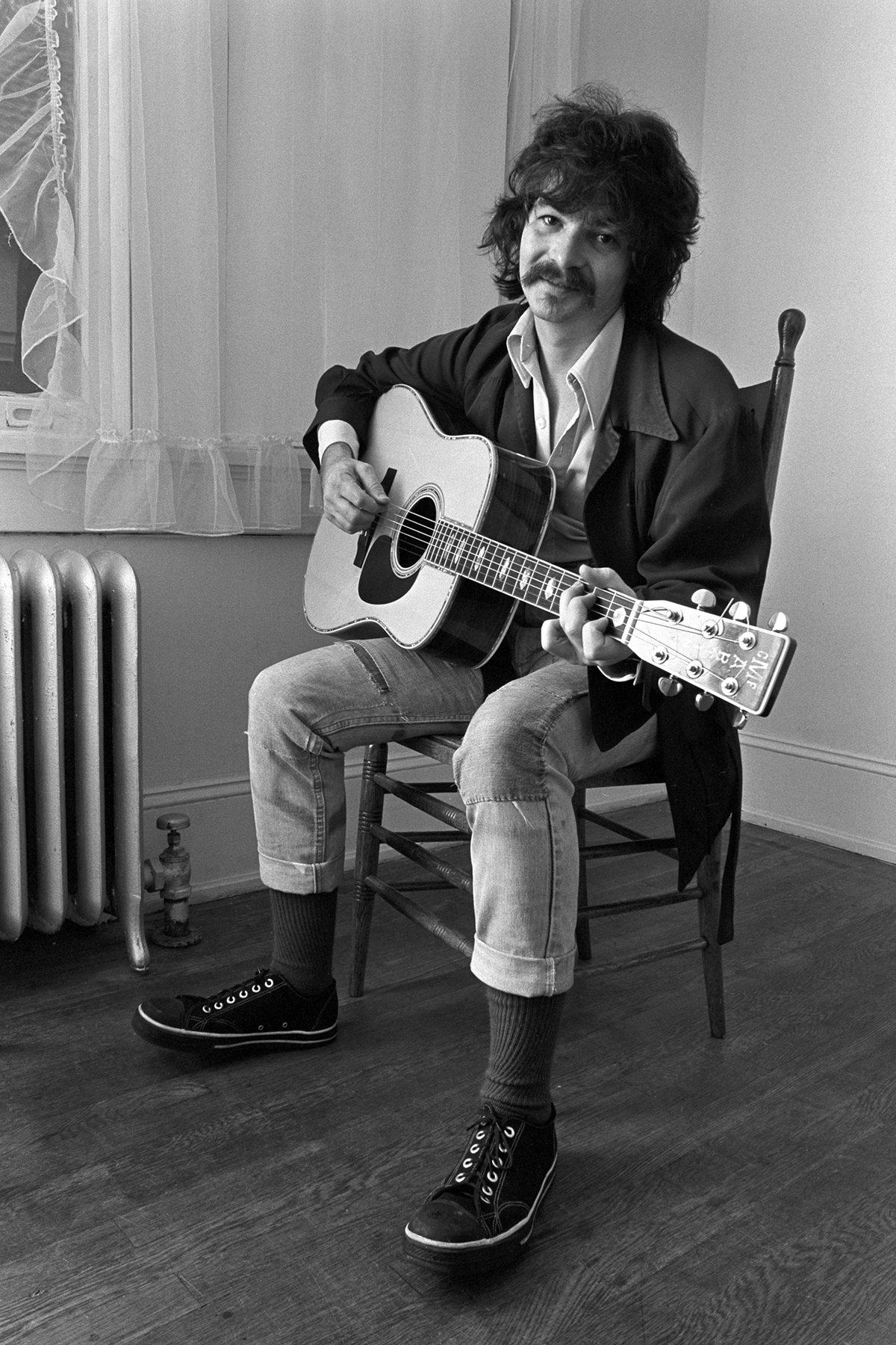 John Prine at an apartment on Briarcliff Road during John Prine on campus of Georgia State College - November 12, 1975 at Georgia State College in Atlanta, Georgia, United States. (Photo by Tom Hill/WireImage)