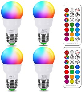 lightbulb color changing