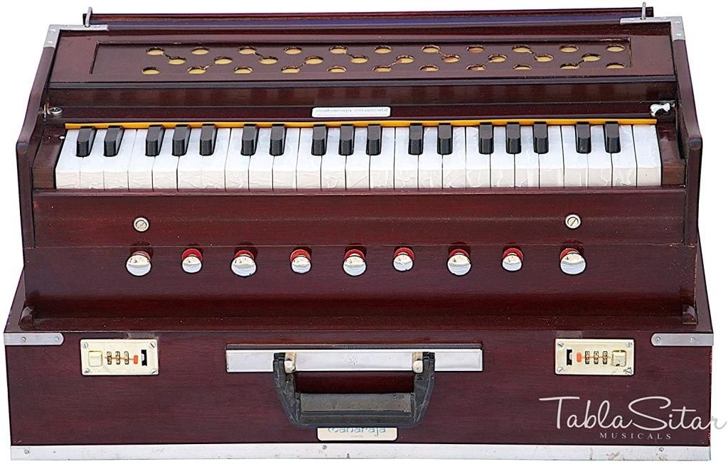 maharaja musicals folding harmonium rosewood