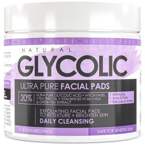 natural glycolic pure facial pads