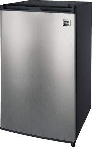 mini fridge freezer stainless steel