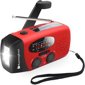 runningsnail emergency hand crank self-powered solar weather radio