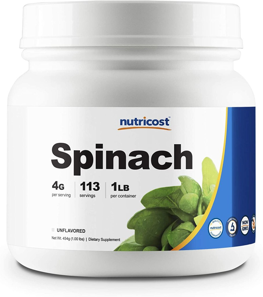 spinach powder nutricost