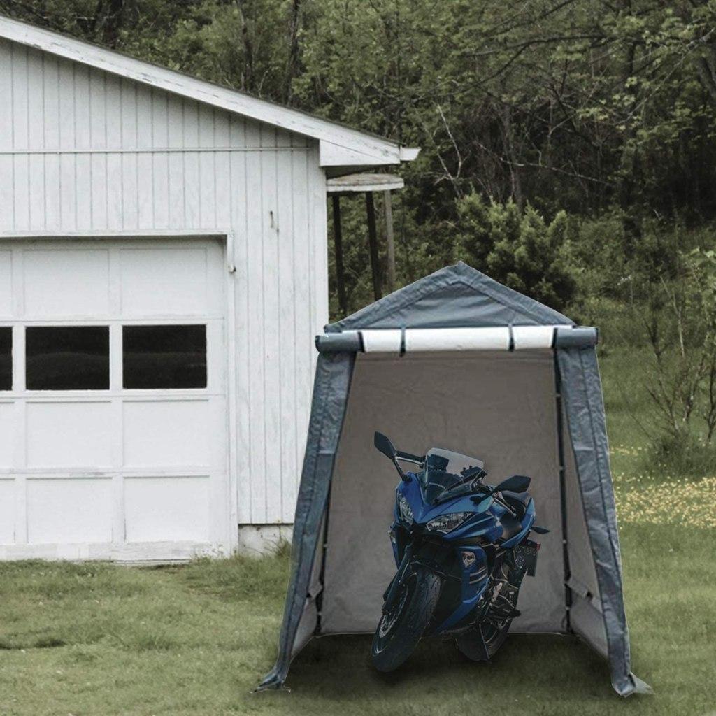 storage tent motorcycle garage