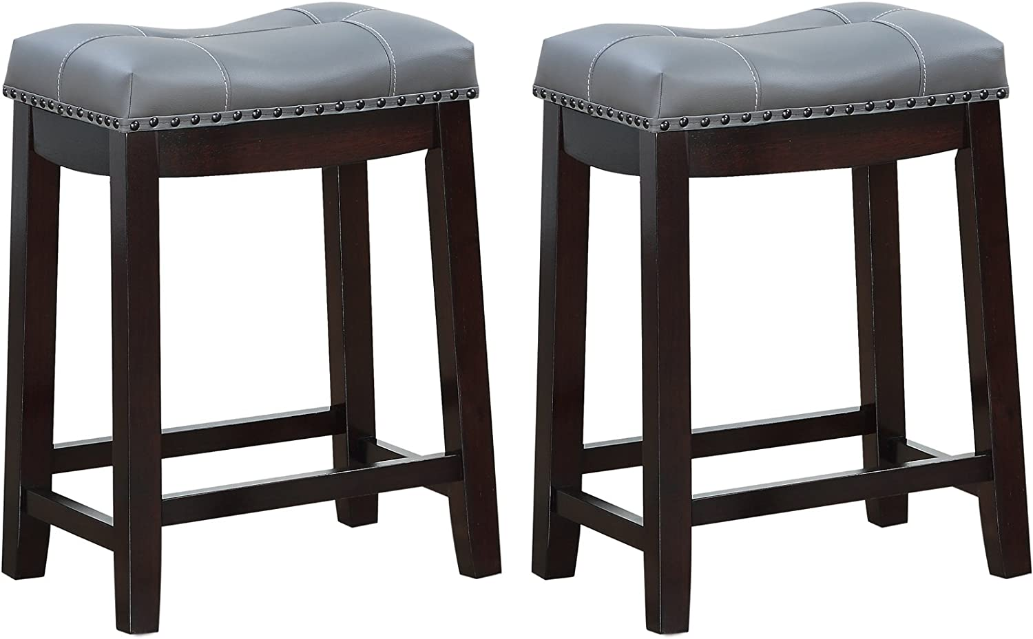 leather bar stools low