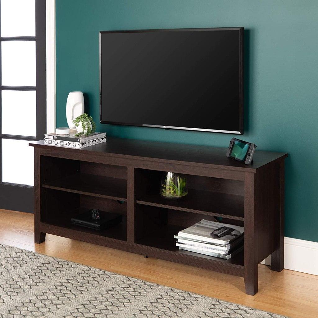 TV stand shelves