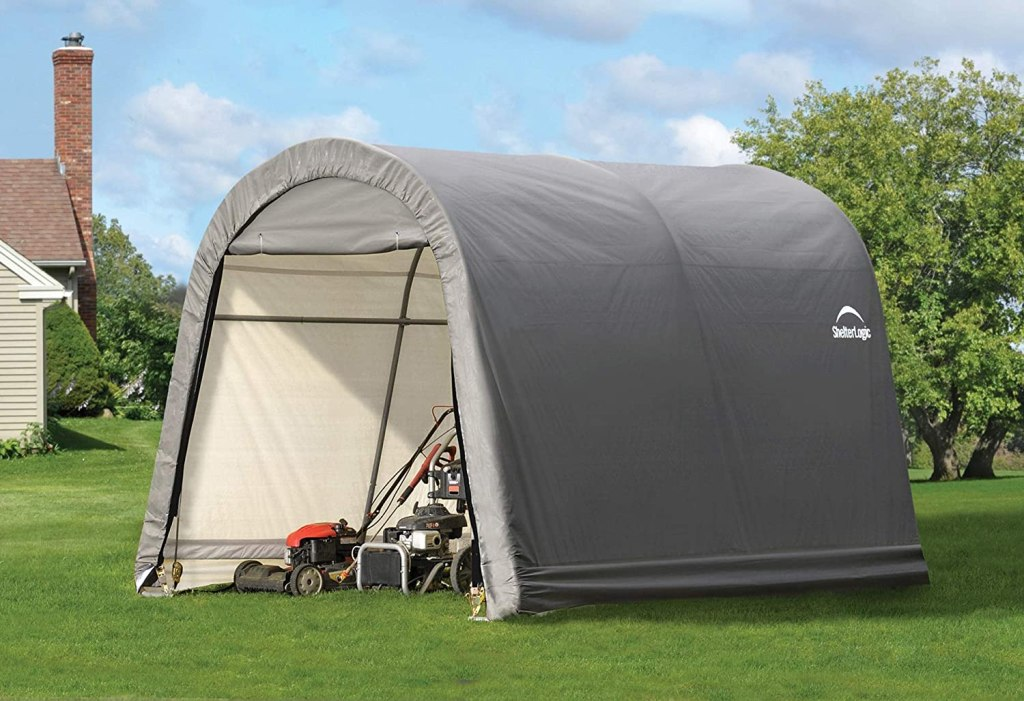storage shelter tent lawn