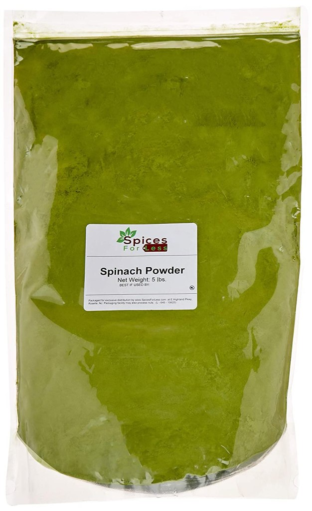 Pure spinach powder bulk