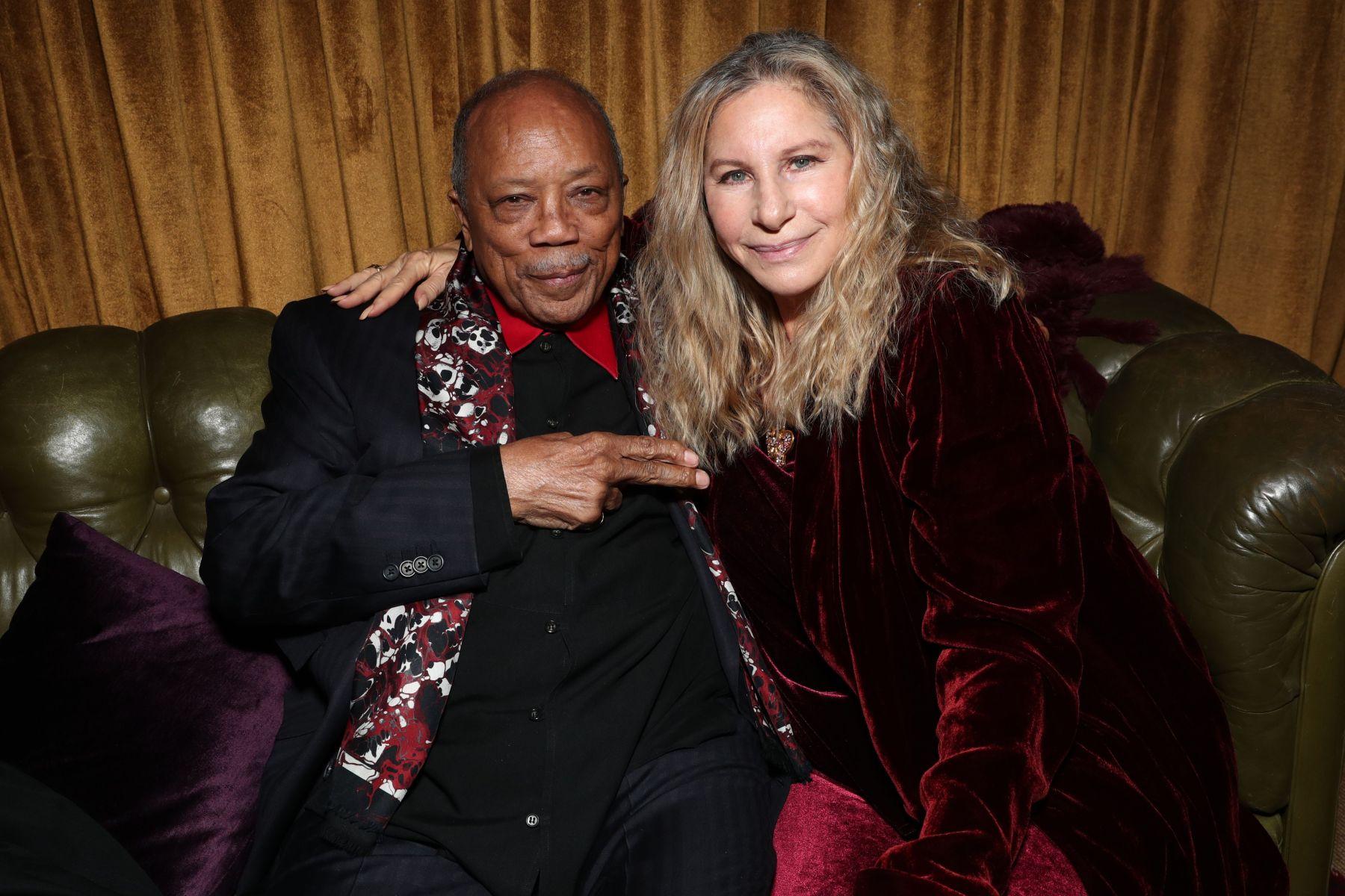 call for code Quincy Jones and Barbra StreisandAmazon Studios Holiday Party, Inside, Los Angeles, USA - 09 Dec 2017