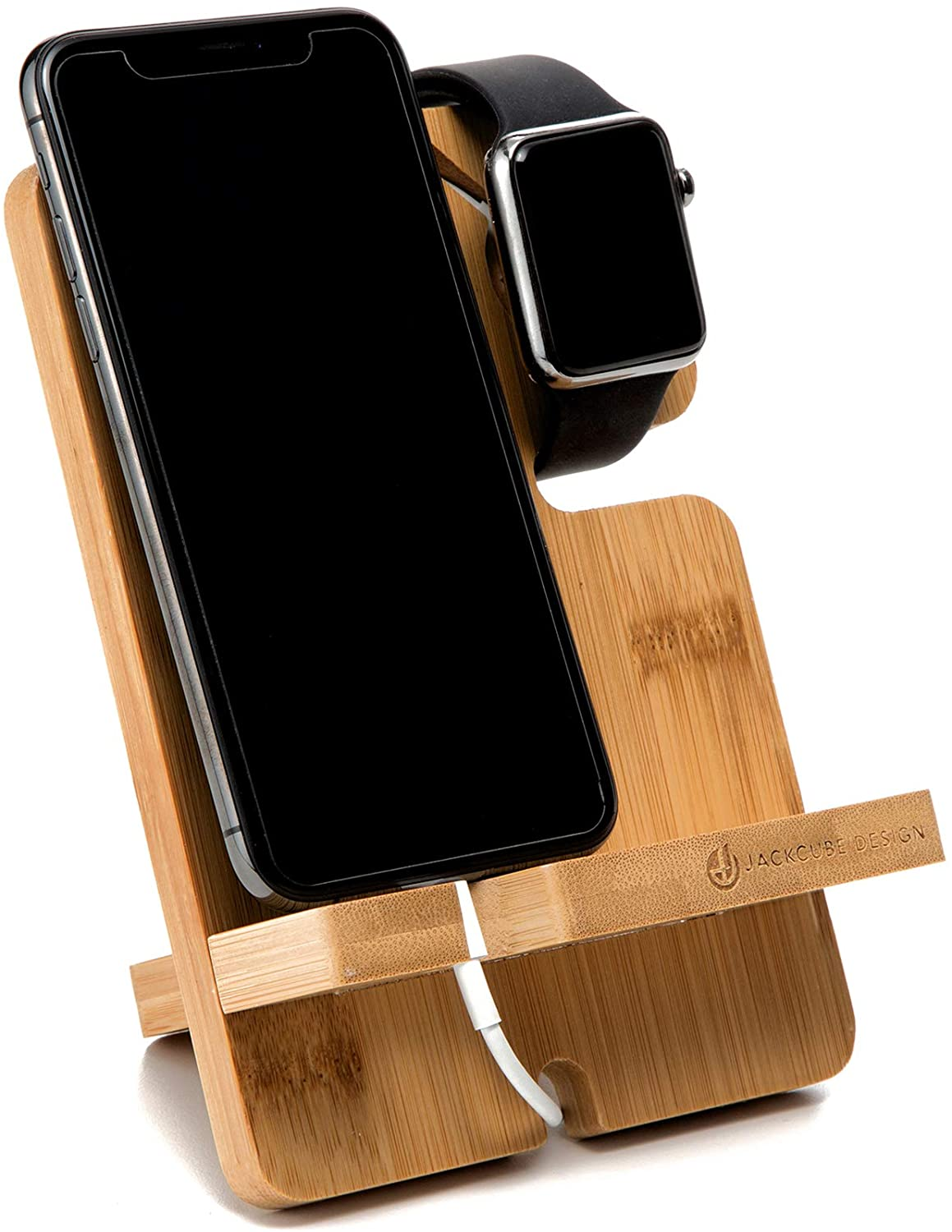 JACKCUBE Bamboo Charging Stand